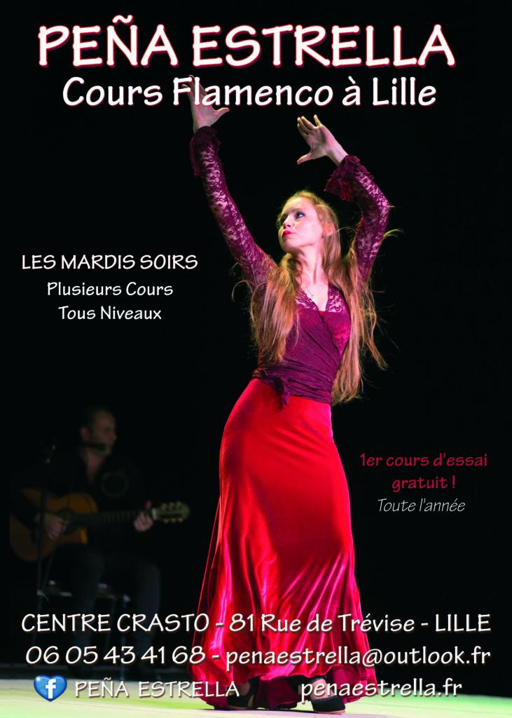 Flamenco lille danse cours Nord Pas de Calais Picardie Hauts de France Estrella