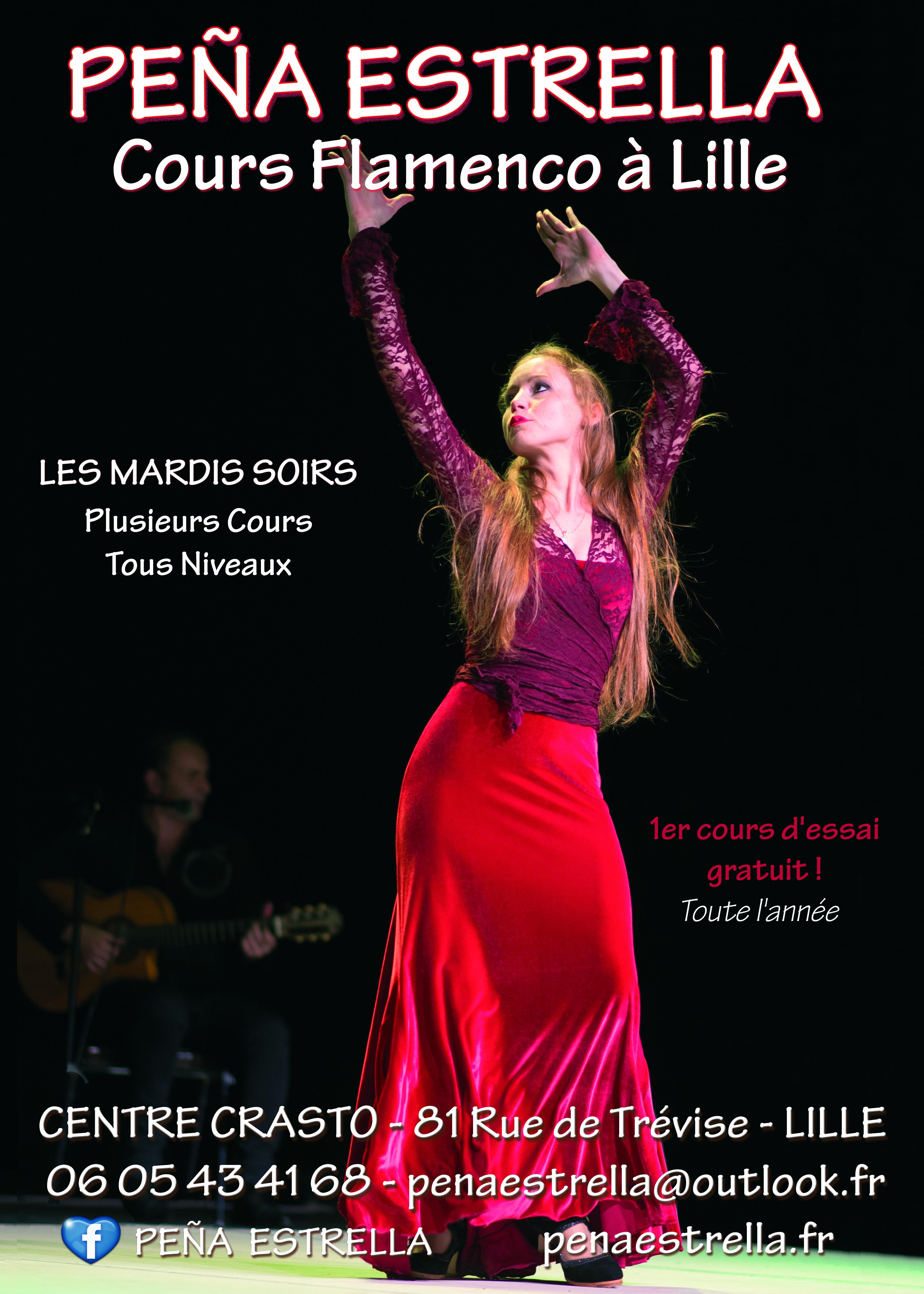 Flamenco Lille Cours  Hauts de France Nord pas de Calais Picardie Peña Estrella