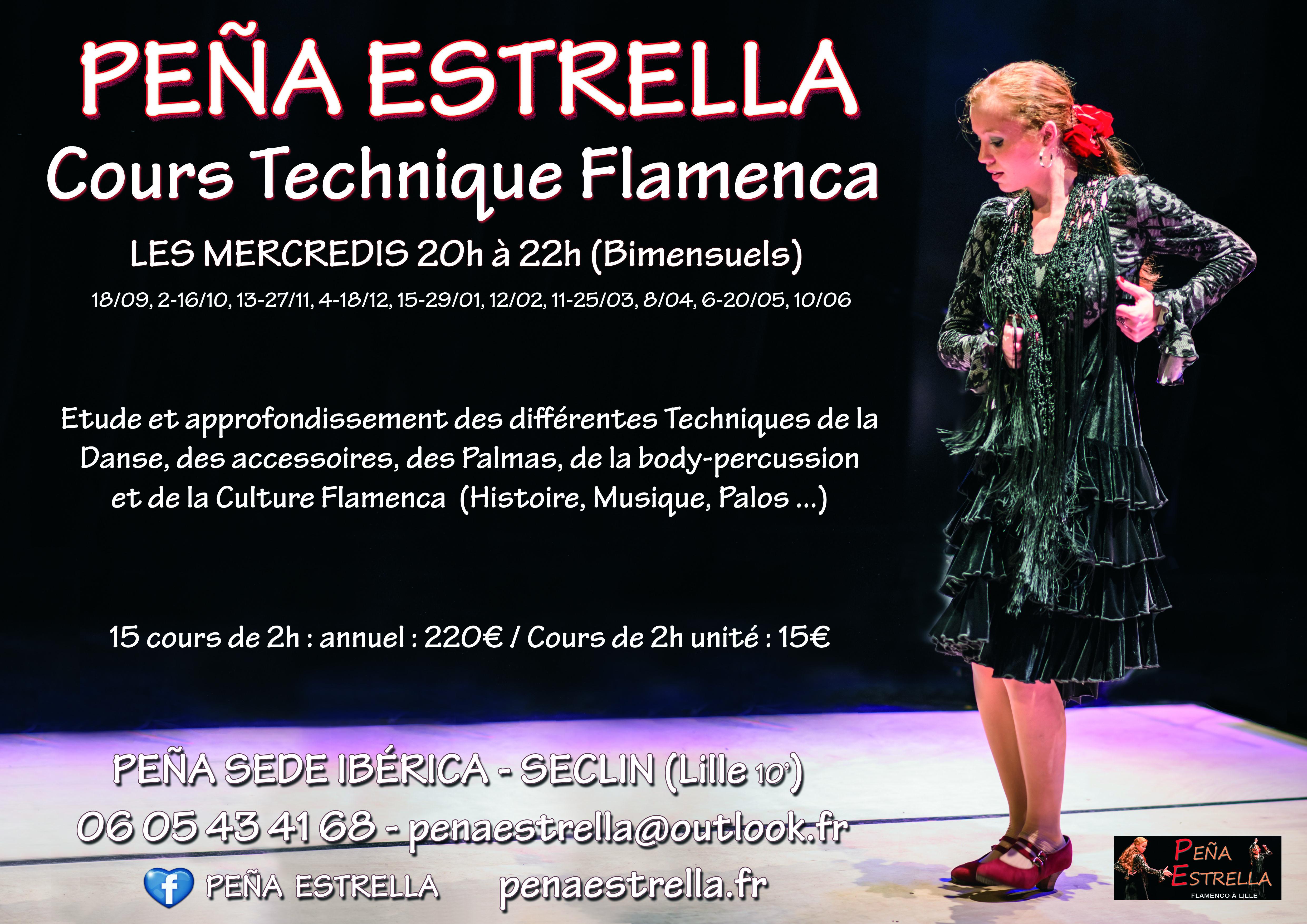 Flamenco Technique Lille Seclin Nord pas de Calais Picardie Hauts de France Peña Estrella
