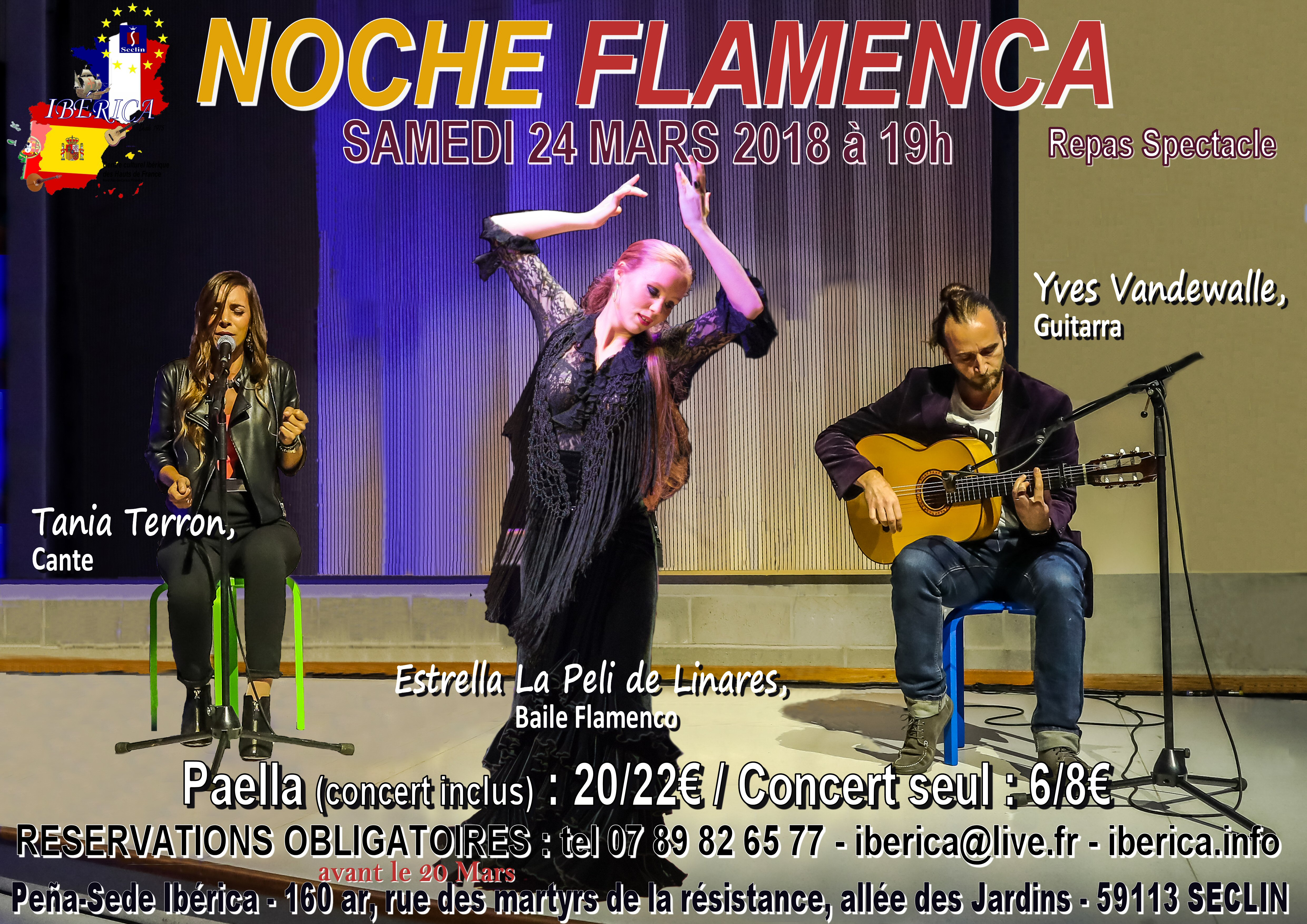 TABLAO FLAMENCO LILLE SECLIN NORD
