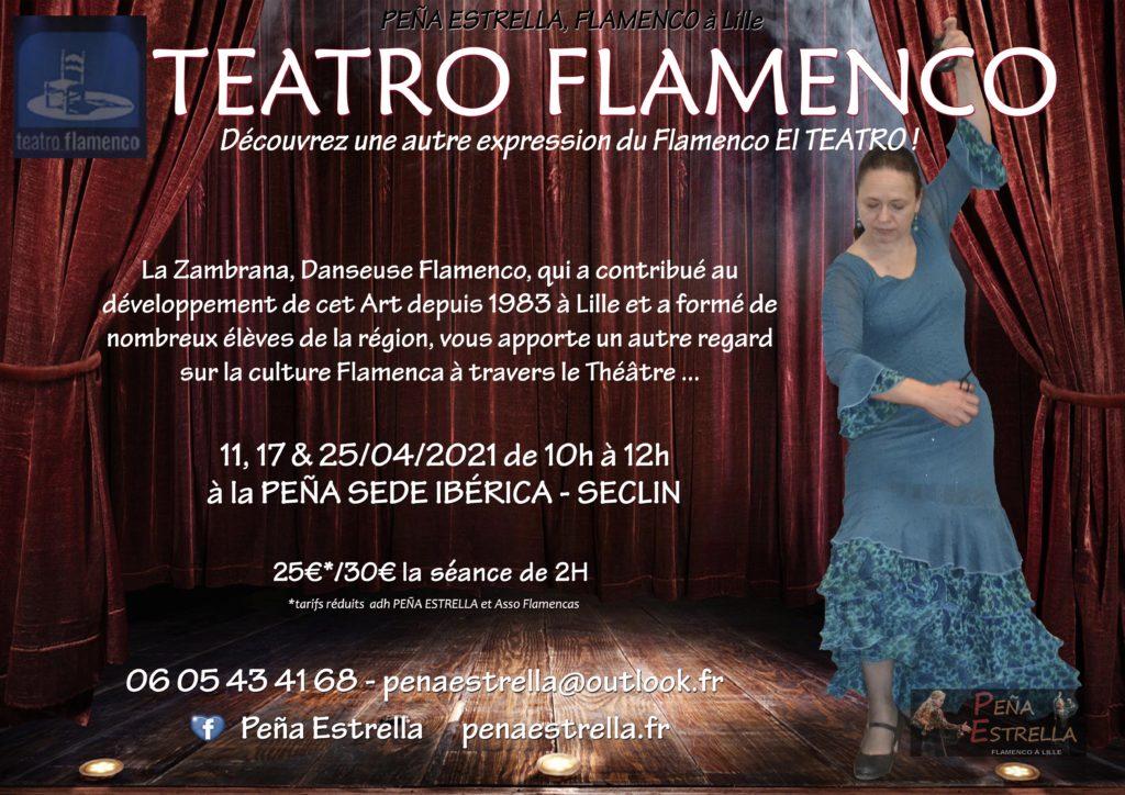 Atelier Theatre Flamenco Lille Nord pas de Calais Picardie