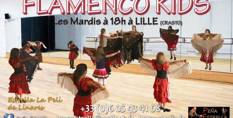 danse enfants Lille Flamenco cours Nord Pas de Calais Picardie Hauts de France